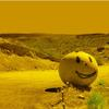 SMILING STEEL BALL AREA 51/TERRESTRIAL HIGHWAY, NEVADA  H2FT X W3FT