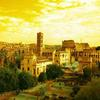 VIEW OF EARLY ROME ARCHITECTURE FROM PANTENE HILL  H2FT X W 3FT