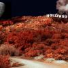 "HOLLYWOOD SIGN NIGHT PHOTO MONTAGE   H18"" X W24""  2015"